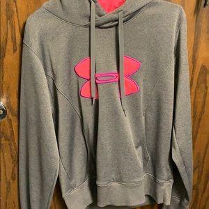 grey and pink hoodie medium
